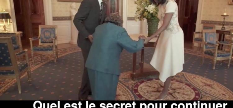 Quand une centenaire rencontre Barack Obama