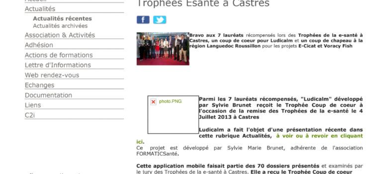Trophies e-health at Castres