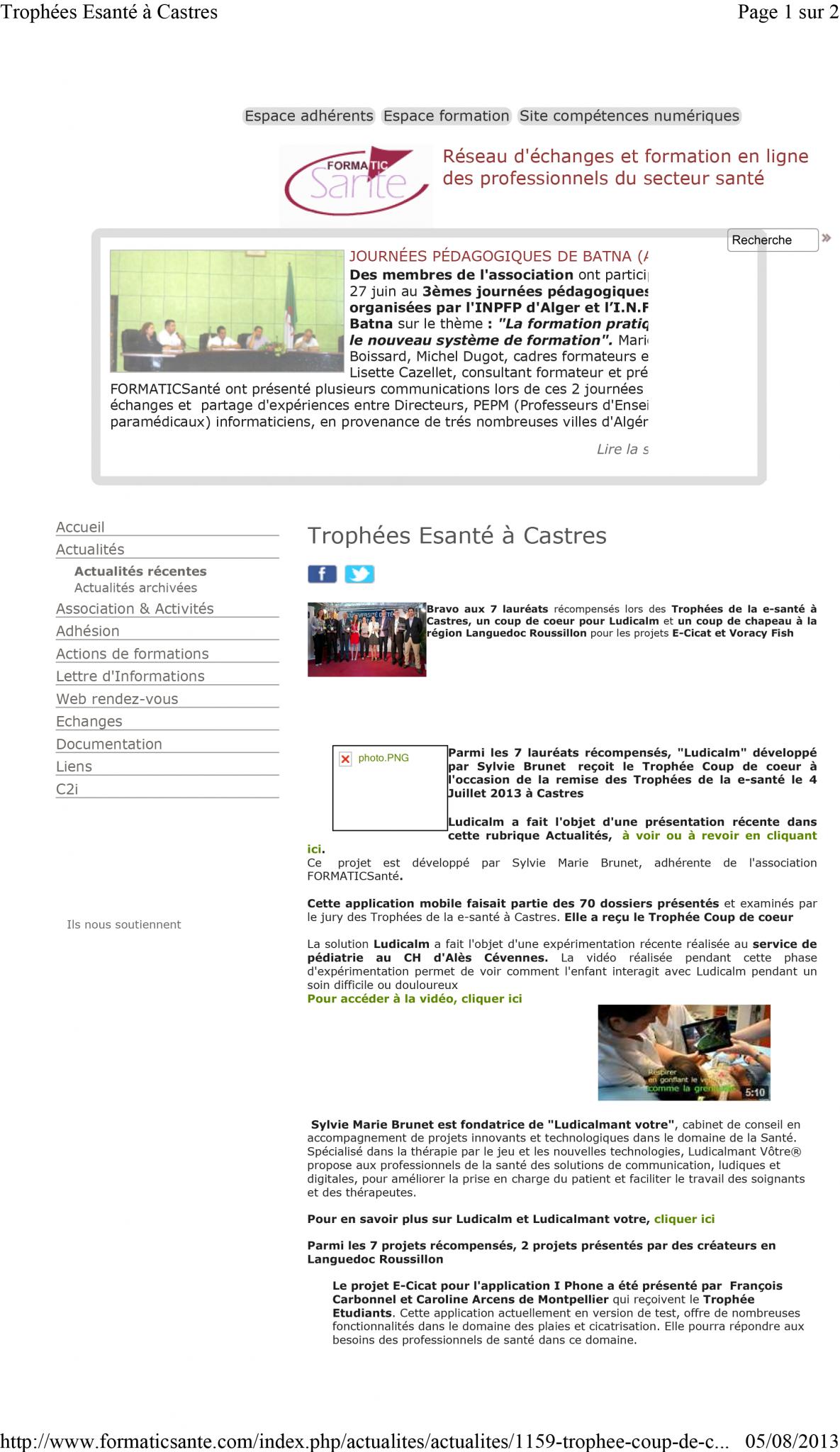 Trophies e-health at Castres