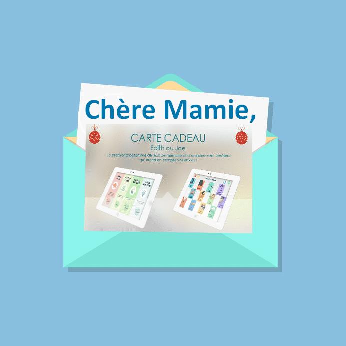 Carte cadeau Noël pour Mamie