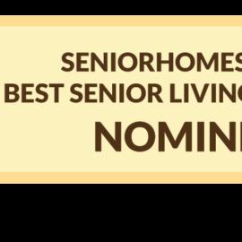 Scarlett nominated for the Seniorhomes awards 2017