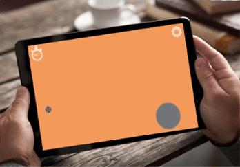 Tablette seniors avec jeux éducatifs favorisant la motricité