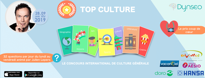 un concours de culture générale avec différentes catégories : sport, art, culture, histoire, ...